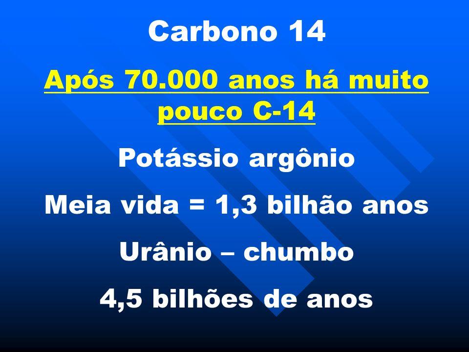 Após 70.000 anos há muito pouco C-14