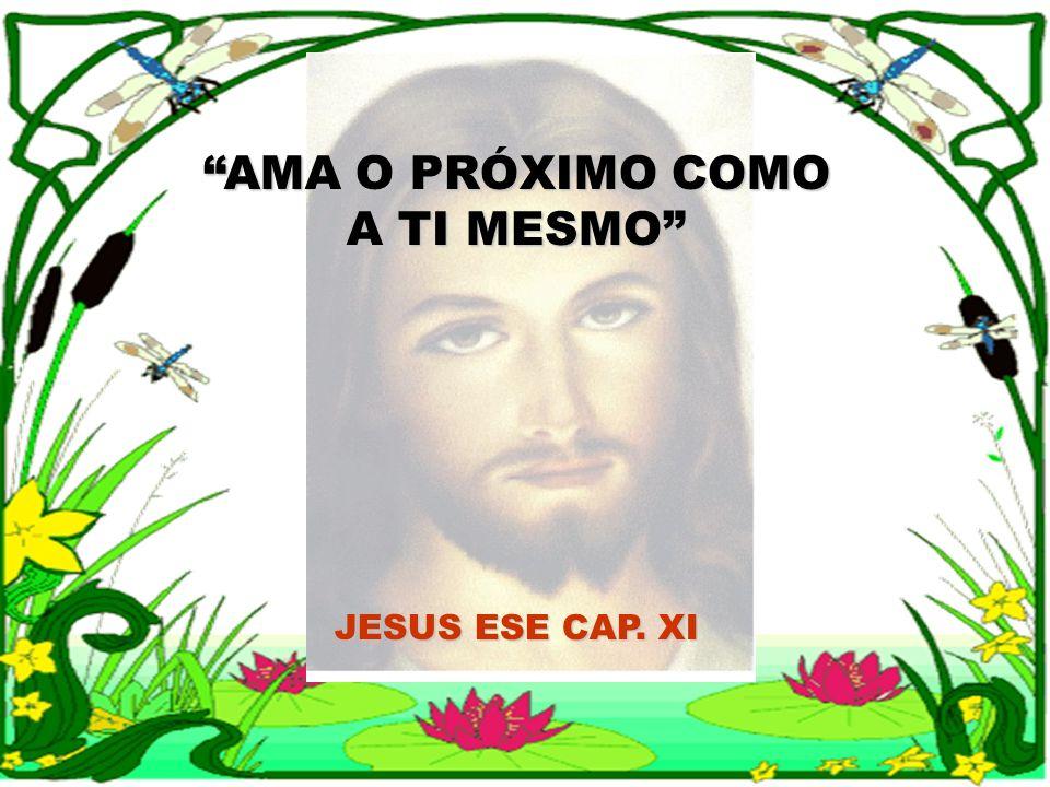 AMA O PRÓXIMO COMO A TI MESMO JESUS ESE CAP. XI