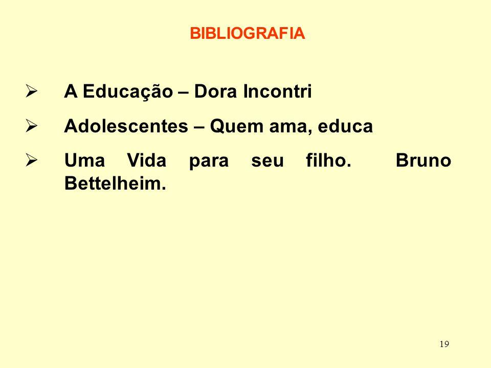 A Educação – Dora Incontri Adolescentes – Quem ama, educa