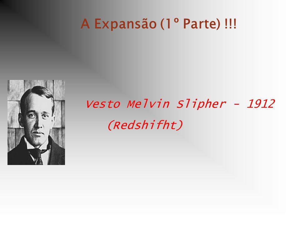A Expansão (1º Parte) !!! Vesto Melvin Slipher - 1912 (Redshifht)