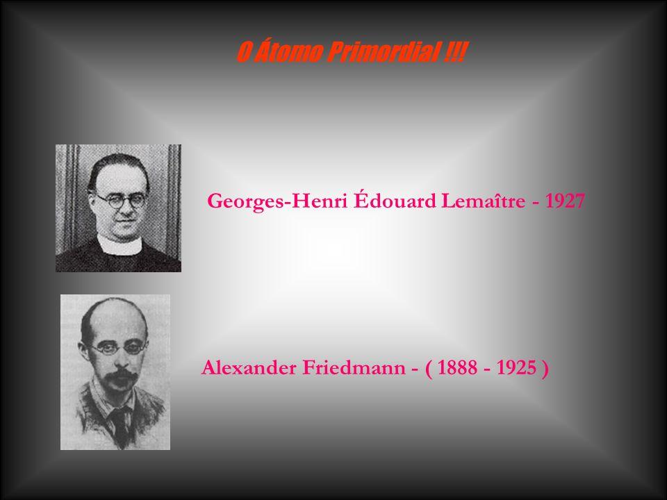 O Átomo Primordial !!! Georges-Henri Édouard Lemaître - 1927