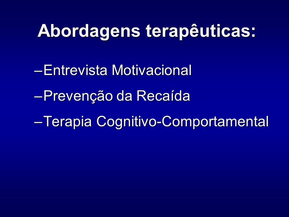 Abordagens terapêuticas: