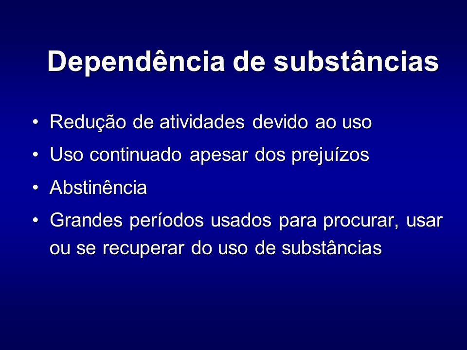 Dependência de substâncias