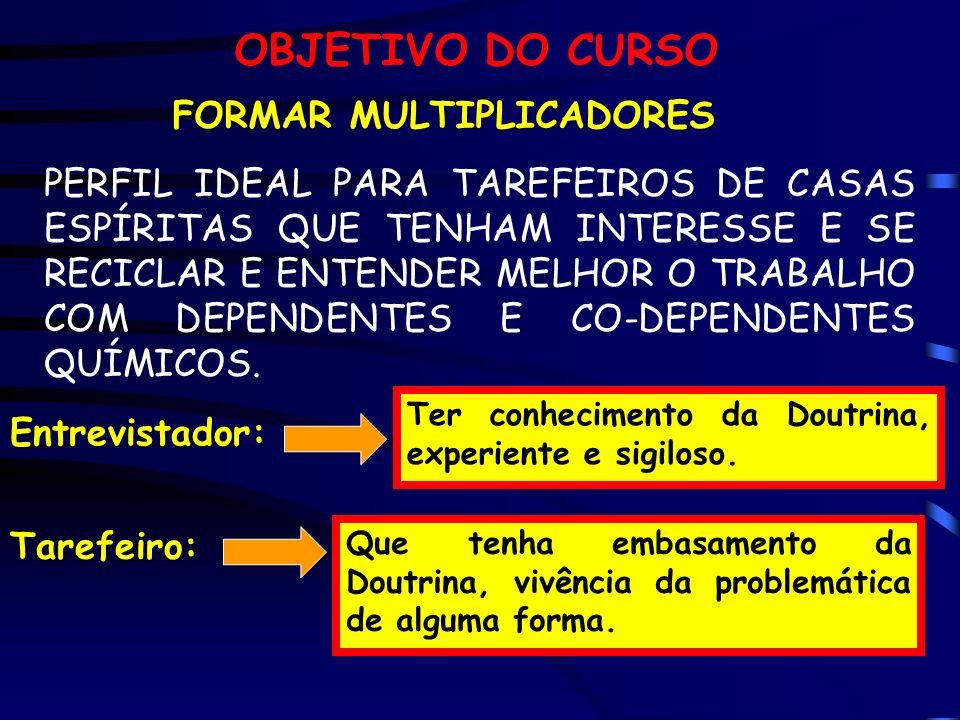 OBJETIVO DO CURSO FORMAR MULTIPLICADORES