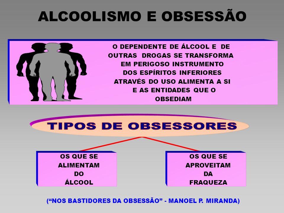 ALCOOLISMO E OBSESSÃO TIPOS DE OBSESSORES