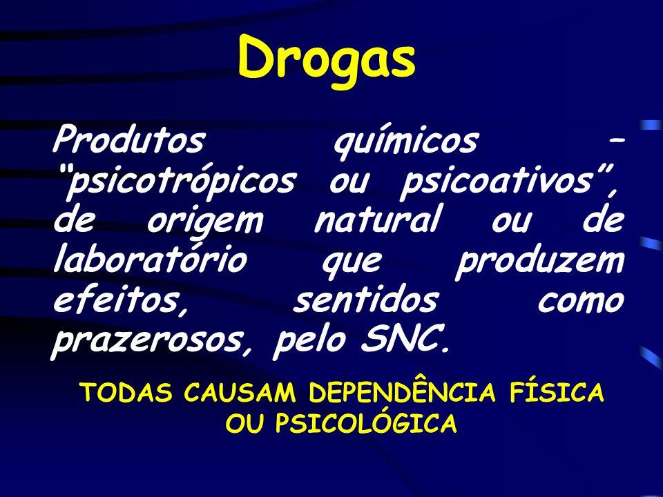 TODAS CAUSAM DEPENDÊNCIA FÍSICA OU PSICOLÓGICA