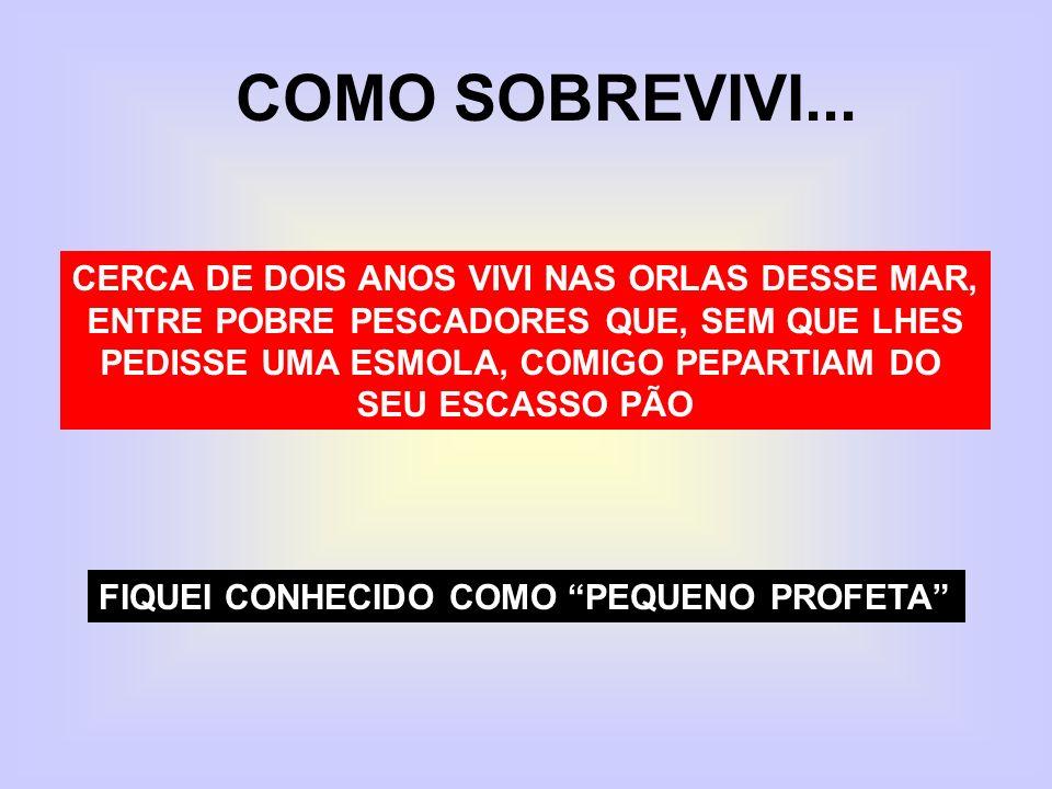 COMO SOBREVIVI... CERCA DE DOIS ANOS VIVI NAS ORLAS DESSE MAR,