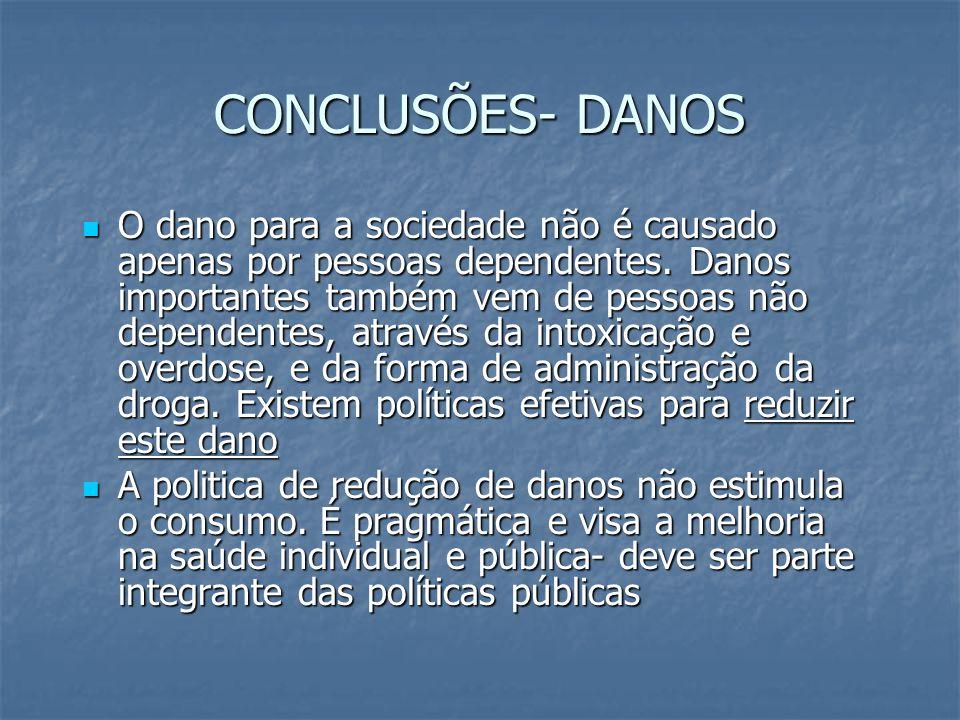 CONCLUSÕES- DANOS