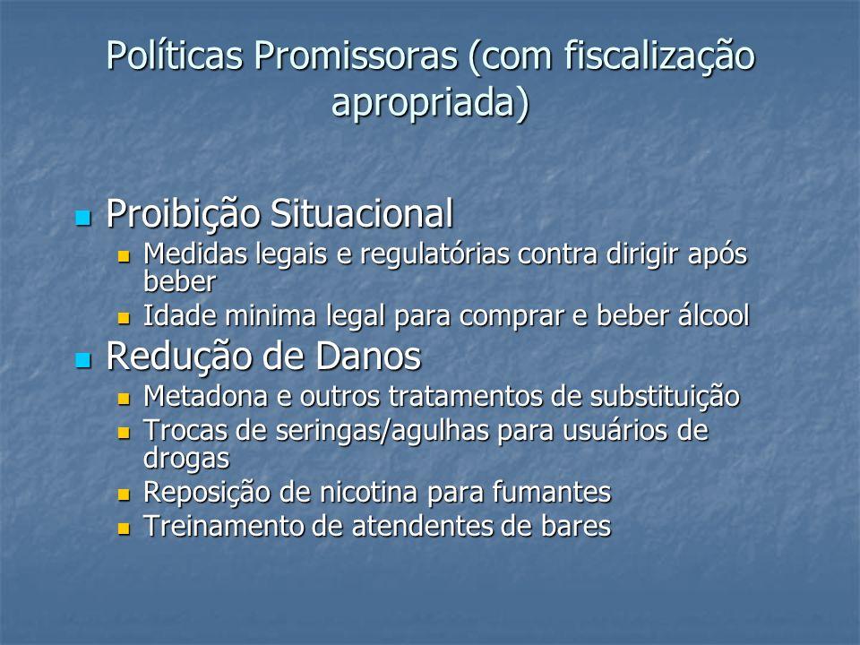 Políticas Promissoras (com fiscalização apropriada)