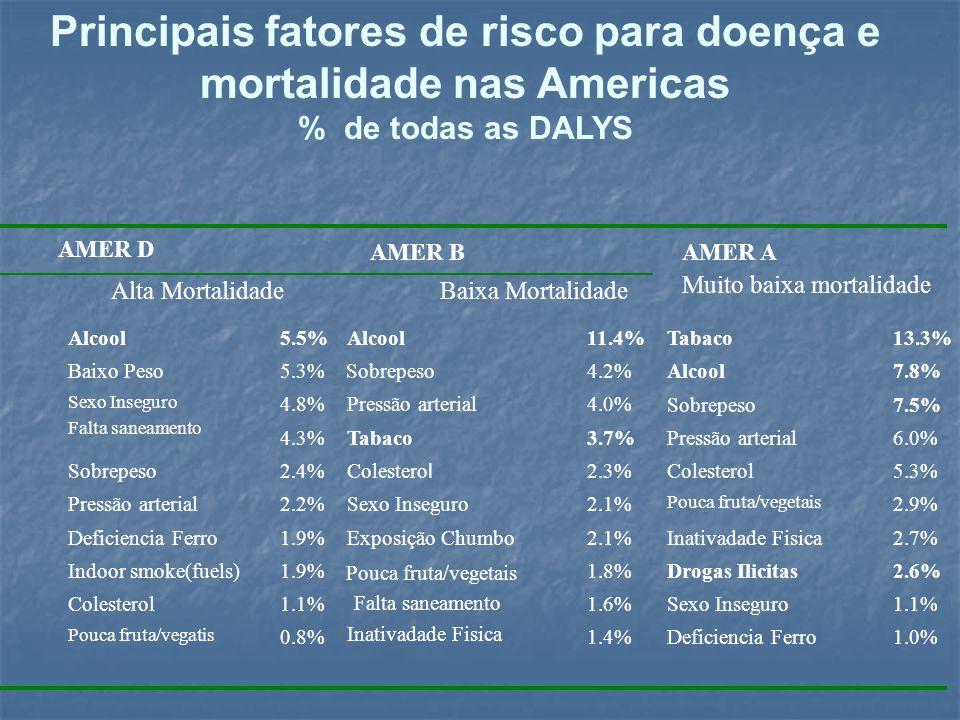 Principais fatores de risco para doença e mortalidade nas Americas