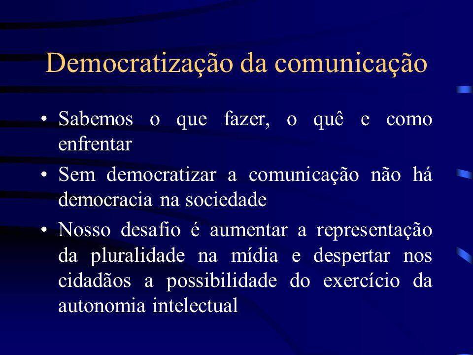 Democratização da comunicação