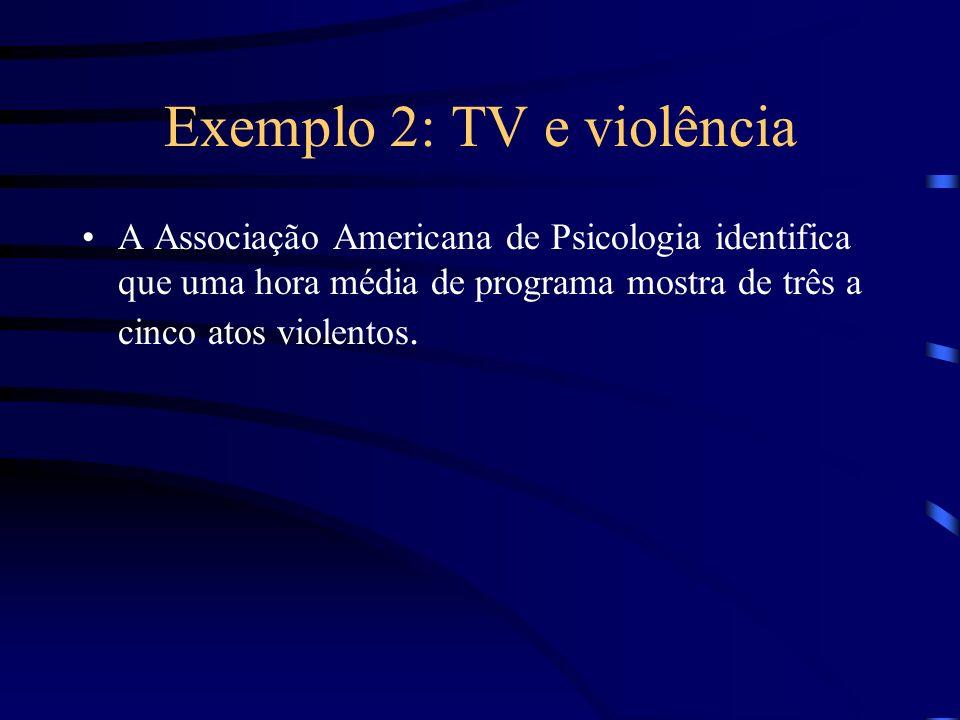 Exemplo 2: TV e violência