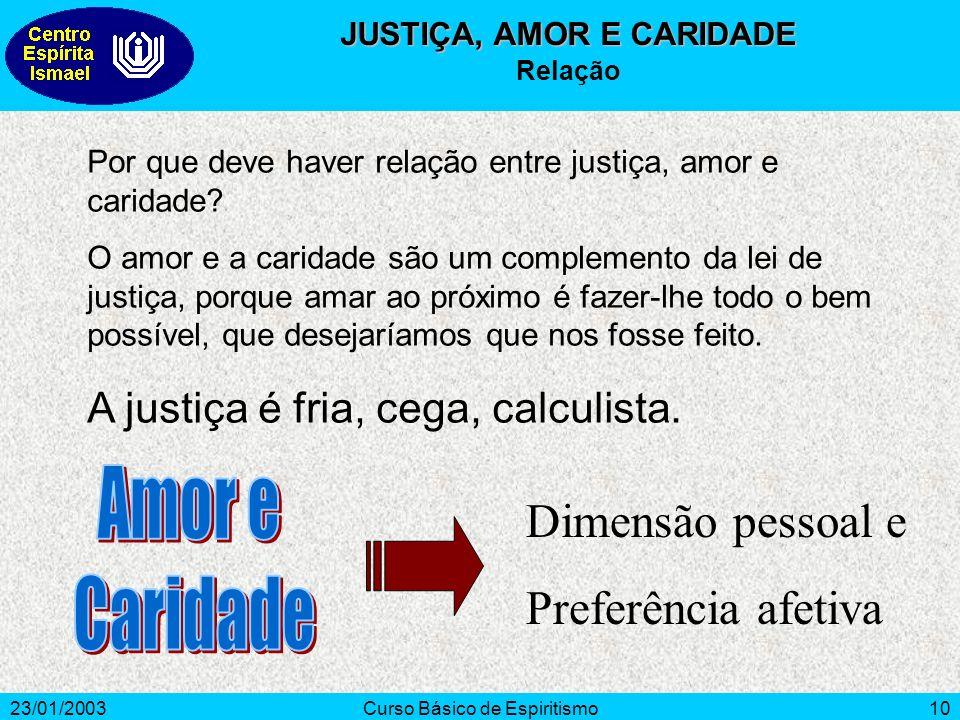 JUSTIÇA, AMOR E CARIDADE
