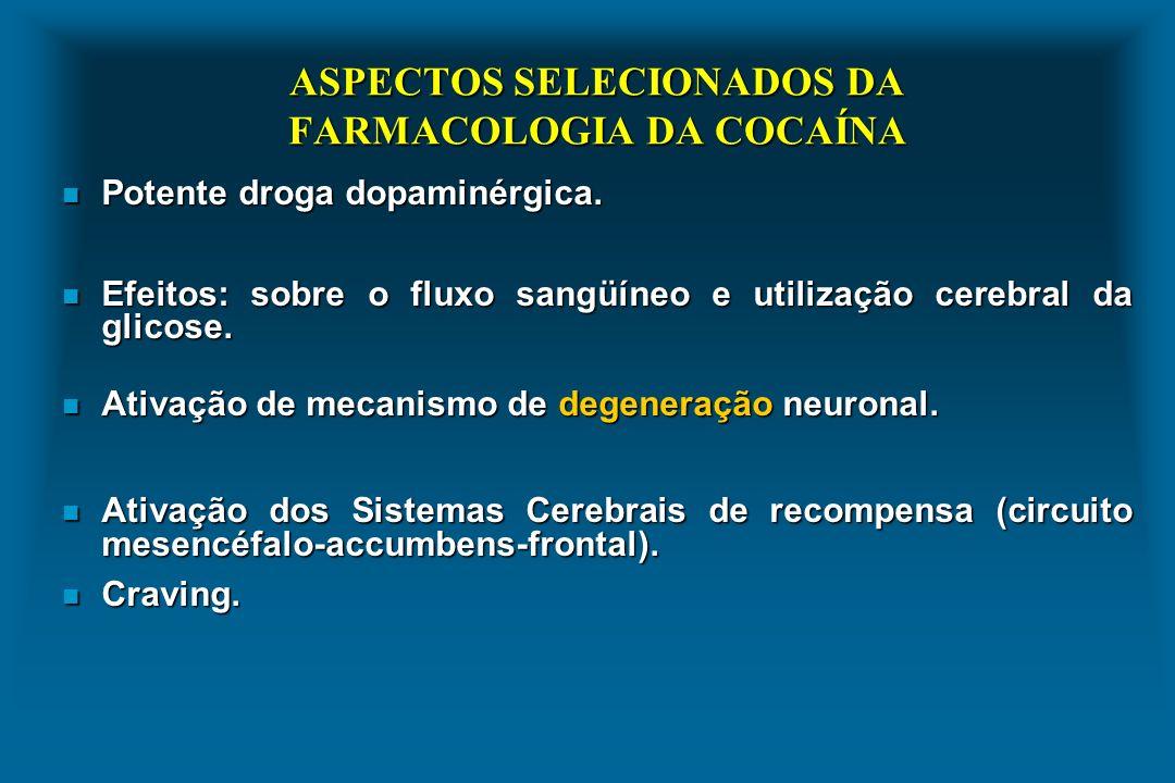 ASPECTOS SELECIONADOS DA FARMACOLOGIA DA COCAÍNA