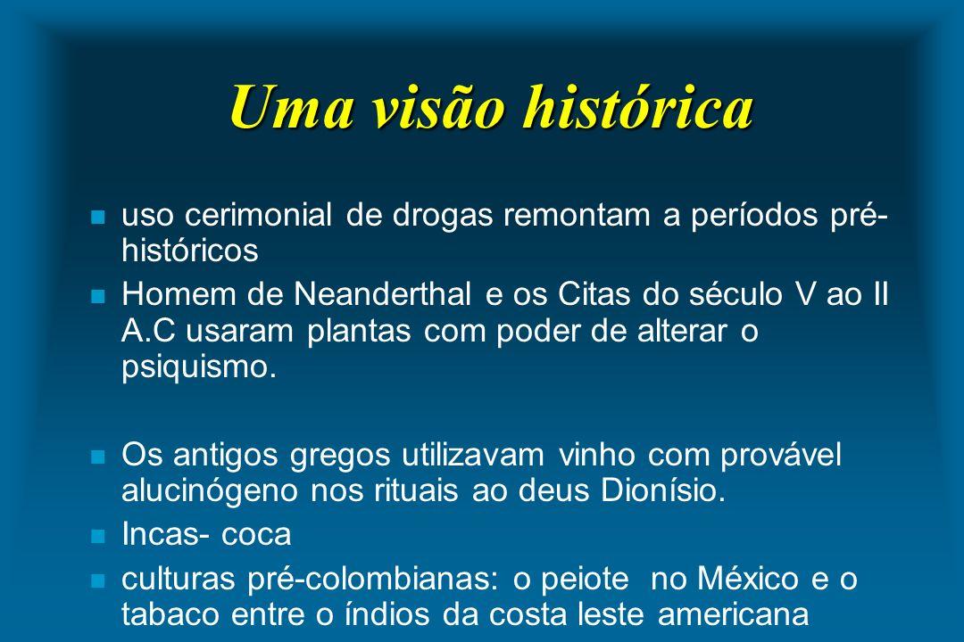 Uma visão histórica uso cerimonial de drogas remontam a períodos pré-históricos.
