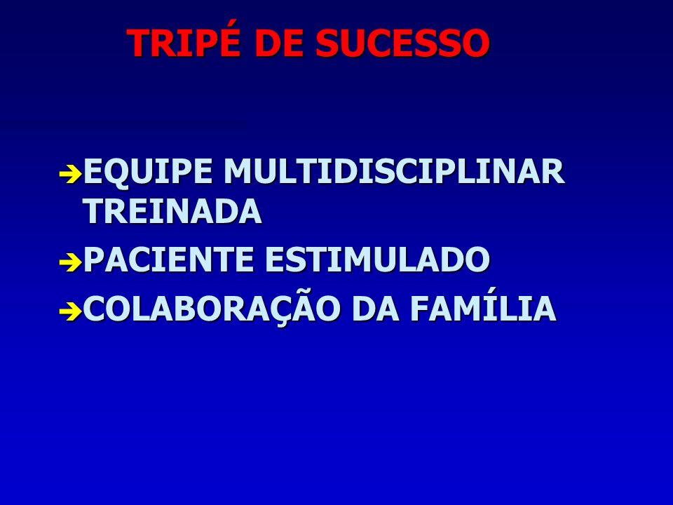 TRIPÉ DE SUCESSO EQUIPE MULTIDISCIPLINAR TREINADA PACIENTE ESTIMULADO