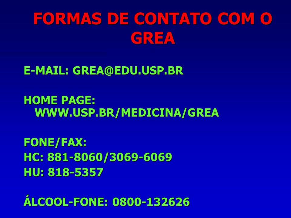FORMAS DE CONTATO COM O GREA