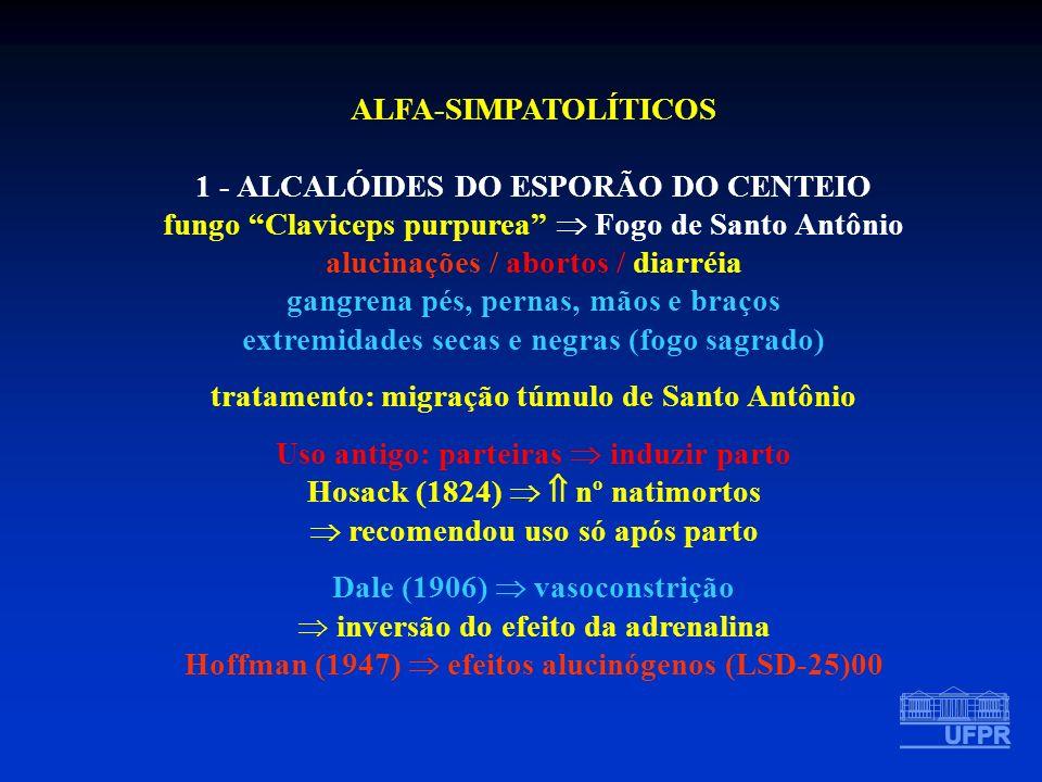 1 - ALCALÓIDES DO ESPORÃO DO CENTEIO