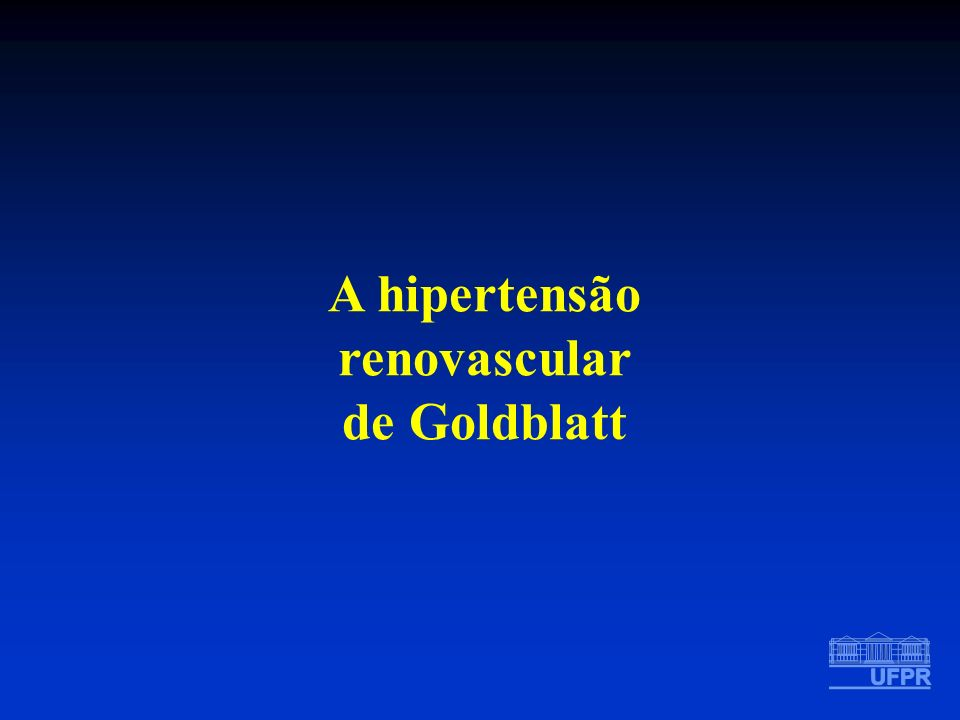 A hipertensão renovascular