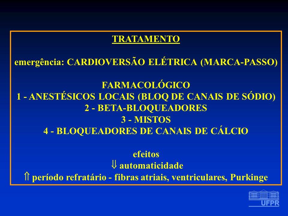 emergência: CARDIOVERSÃO ELÉTRICA (MARCA-PASSO) FARMACOLÓGICO