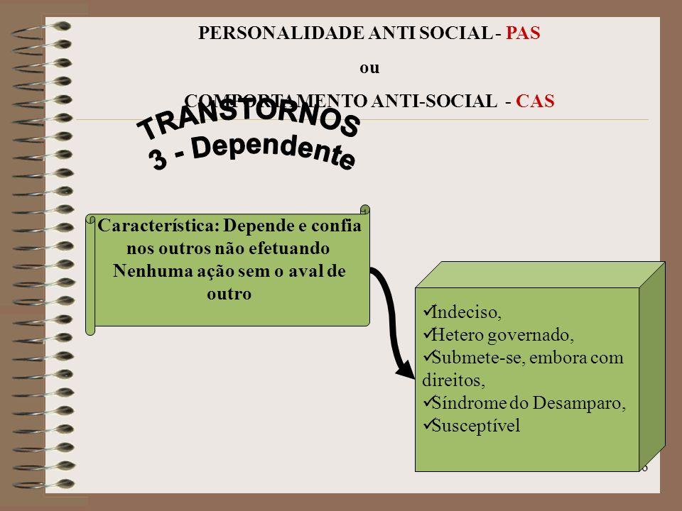 TRANSTORNOS 3 - Dependente