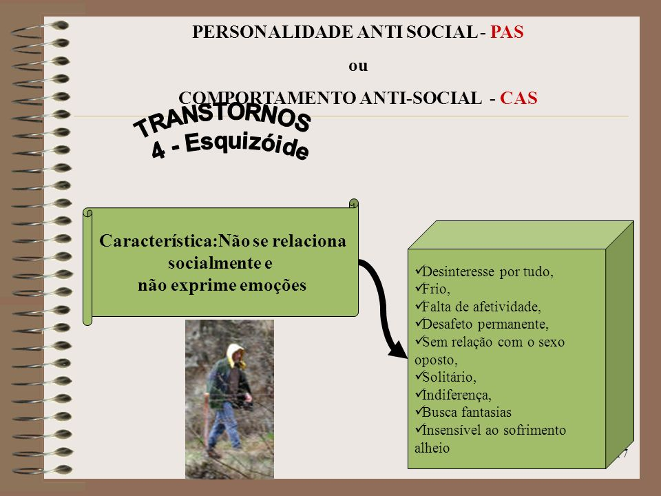 TRANSTORNOS 4 - Esquizóide
