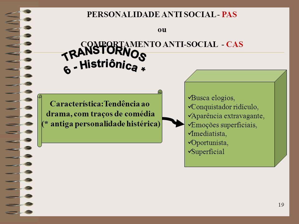 TRANSTORNOS 6 - Histriônica *