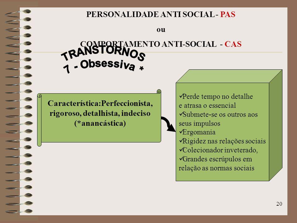 TRANSTORNOS 7 - Obsessiva *