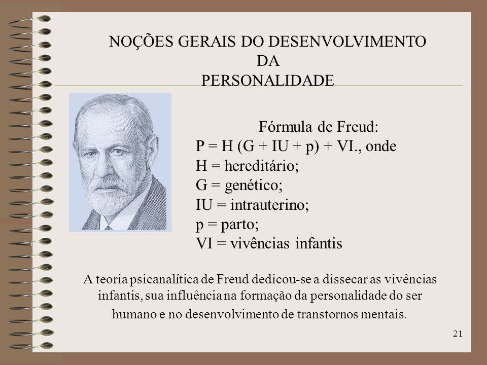 NOÇÕES GERAIS DO DESENVOLVIMENTO DA PERSONALIDADE