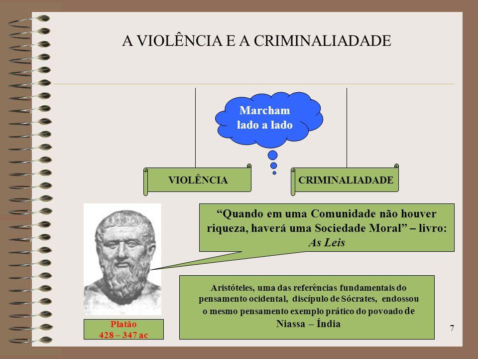 A VIOLÊNCIA E A CRIMINALIADADE