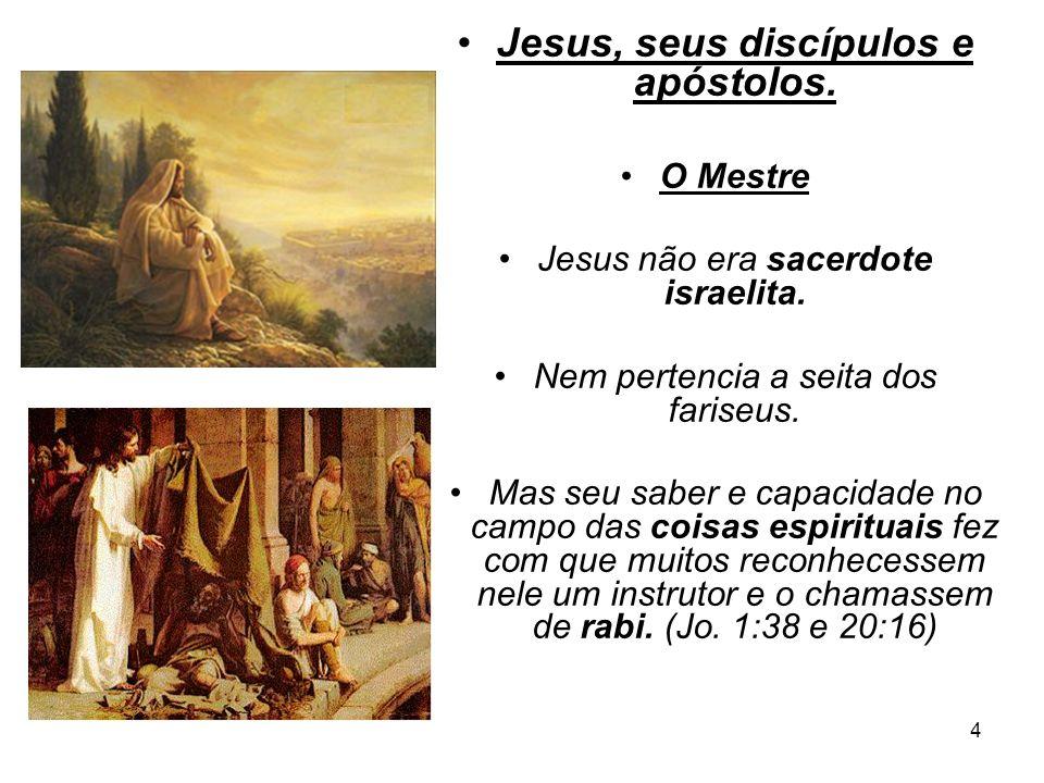 Jesus, seus discípulos e apóstolos.