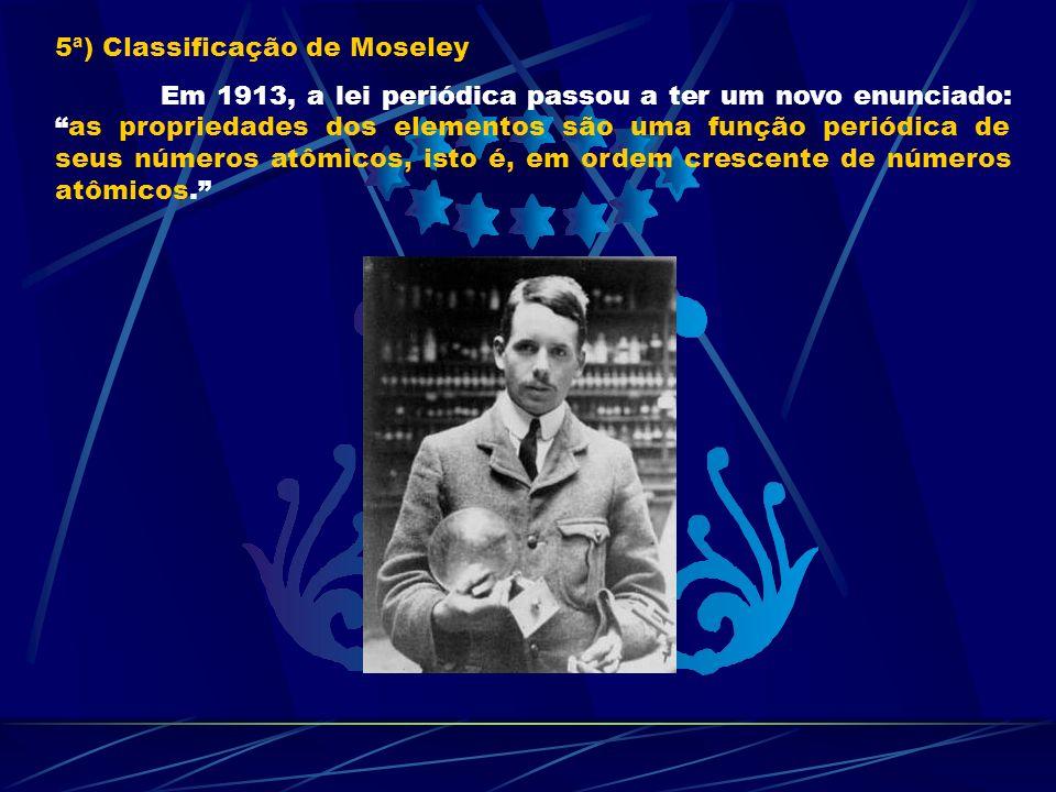 5ª) Classificação de Moseley