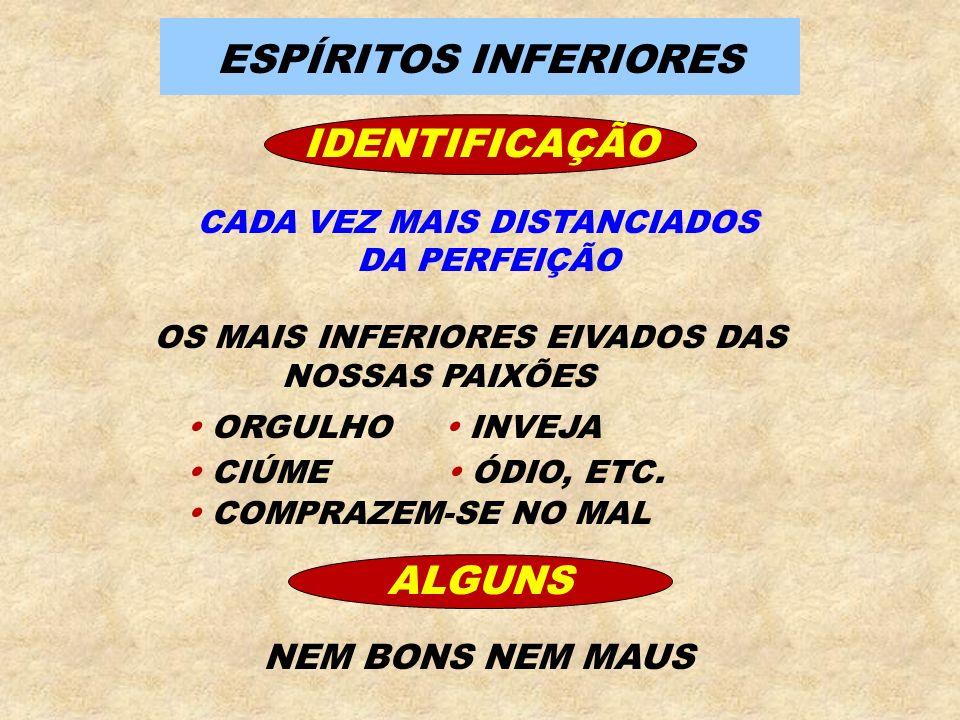 ESPÍRITOS INFERIORES IDENTIFICAÇÃO ALGUNS
