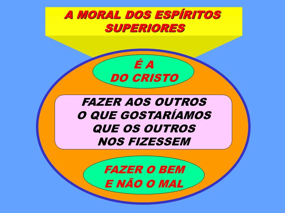 A MORAL DOS ESPÍRITOS SUPERIORES É A DO CRISTO FAZER AOS OUTROS
