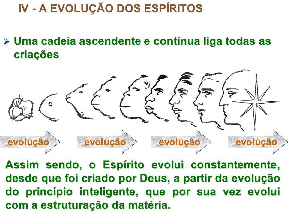 IV - A EVOLUÇÃO DOS ESPÍRITOS