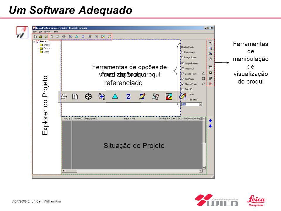 Um Software Adequado Explorer do Projeto Área do croqui referenciado