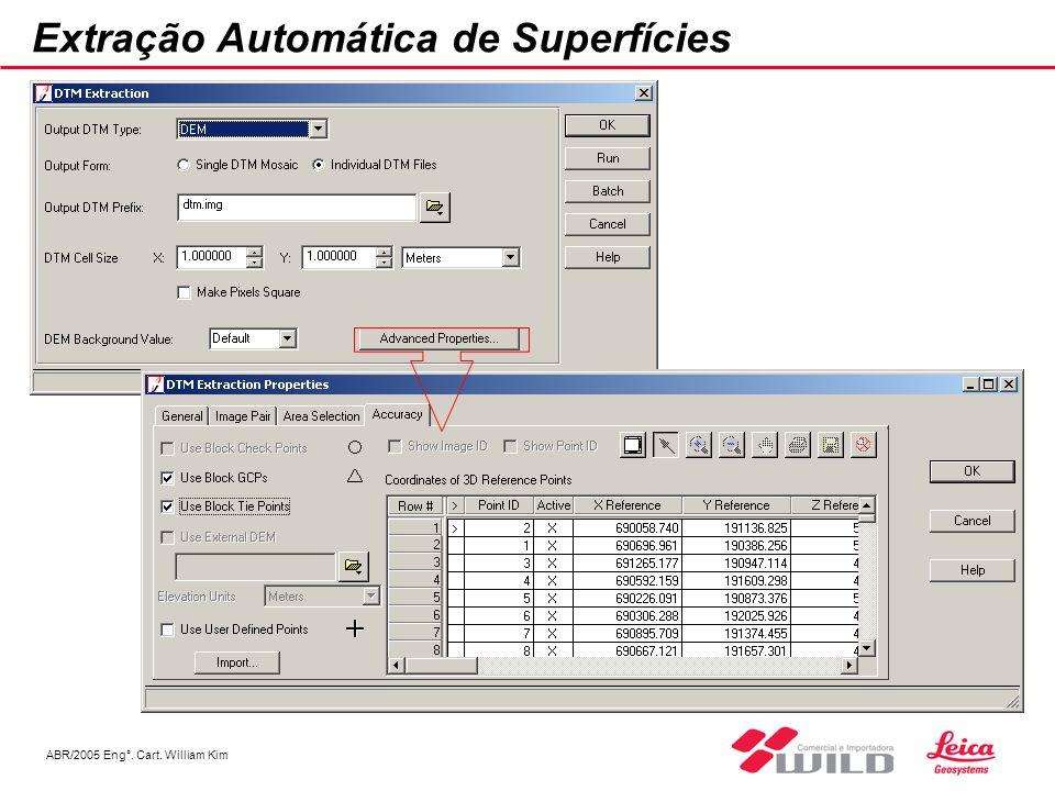 Extração Automática de Superfícies