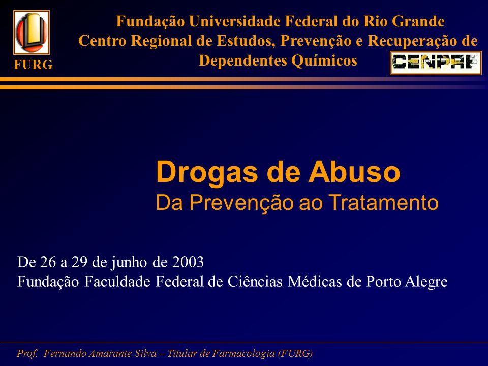 Drogas de Abuso Da Prevenção ao Tratamento