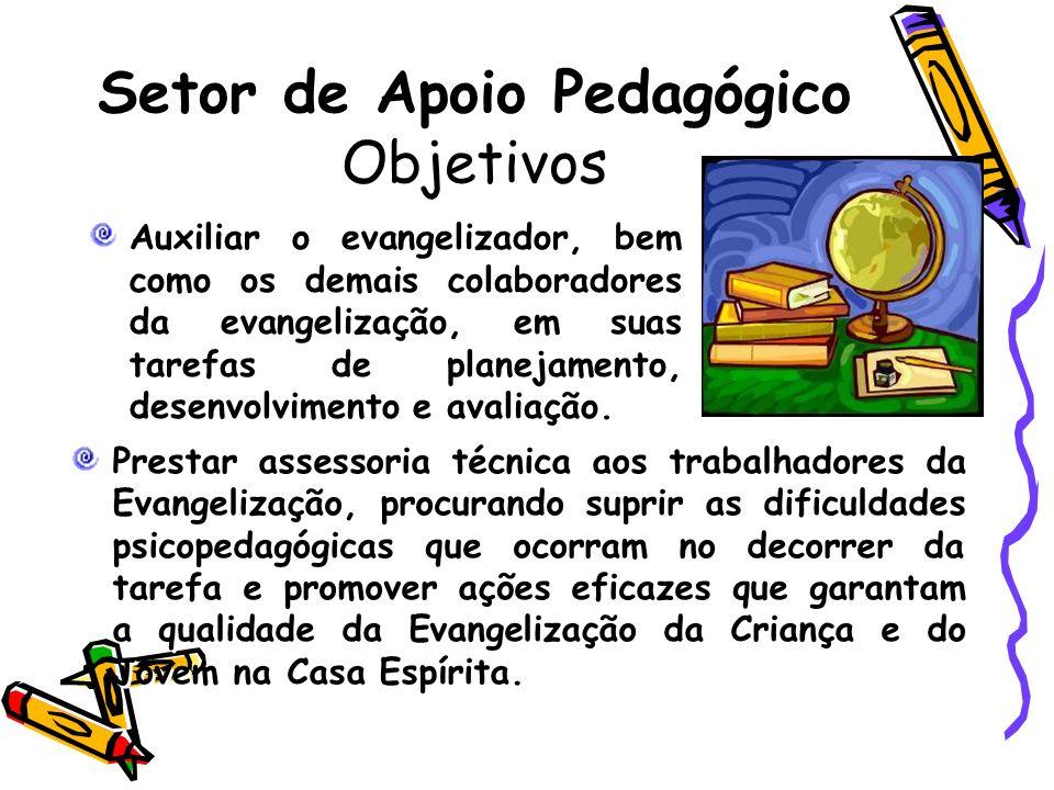 Setor de Apoio Pedagógico Objetivos