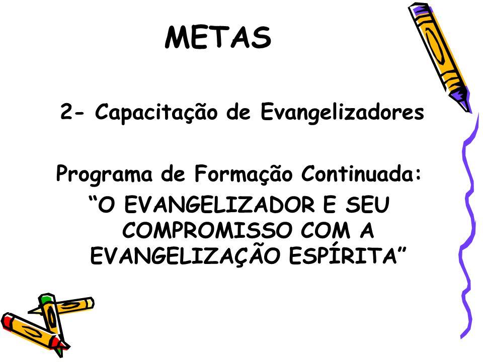 METAS 2- Capacitação de Evangelizadores