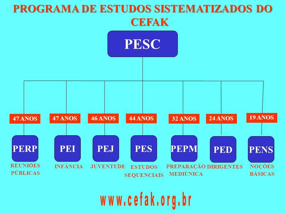 PROGRAMA DE ESTUDOS SISTEMATIZADOS DO CEFAK