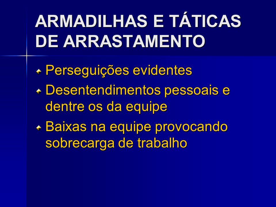 ARMADILHAS E TÁTICAS DE ARRASTAMENTO
