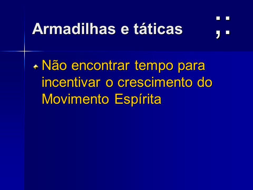 ;: Armadilhas e táticas
