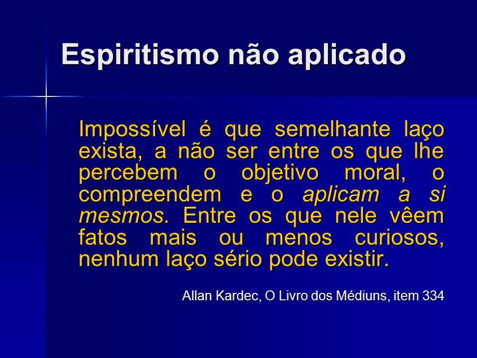Espiritismo não aplicado