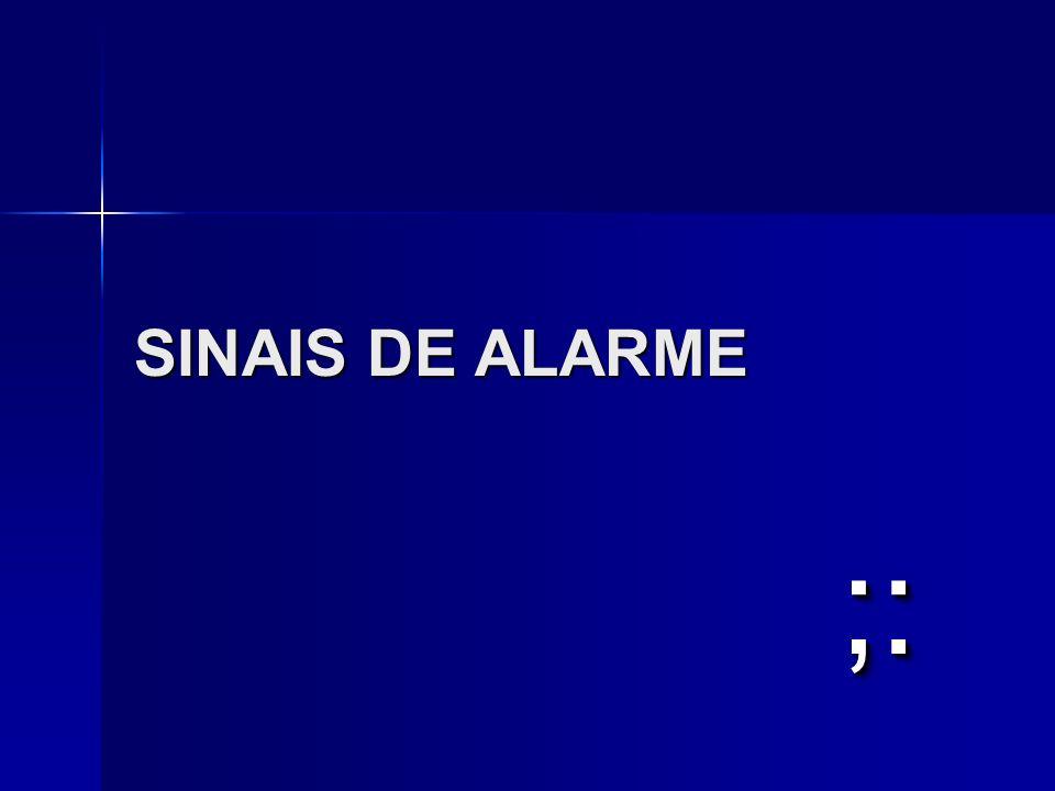 SINAIS DE ALARME ;:
