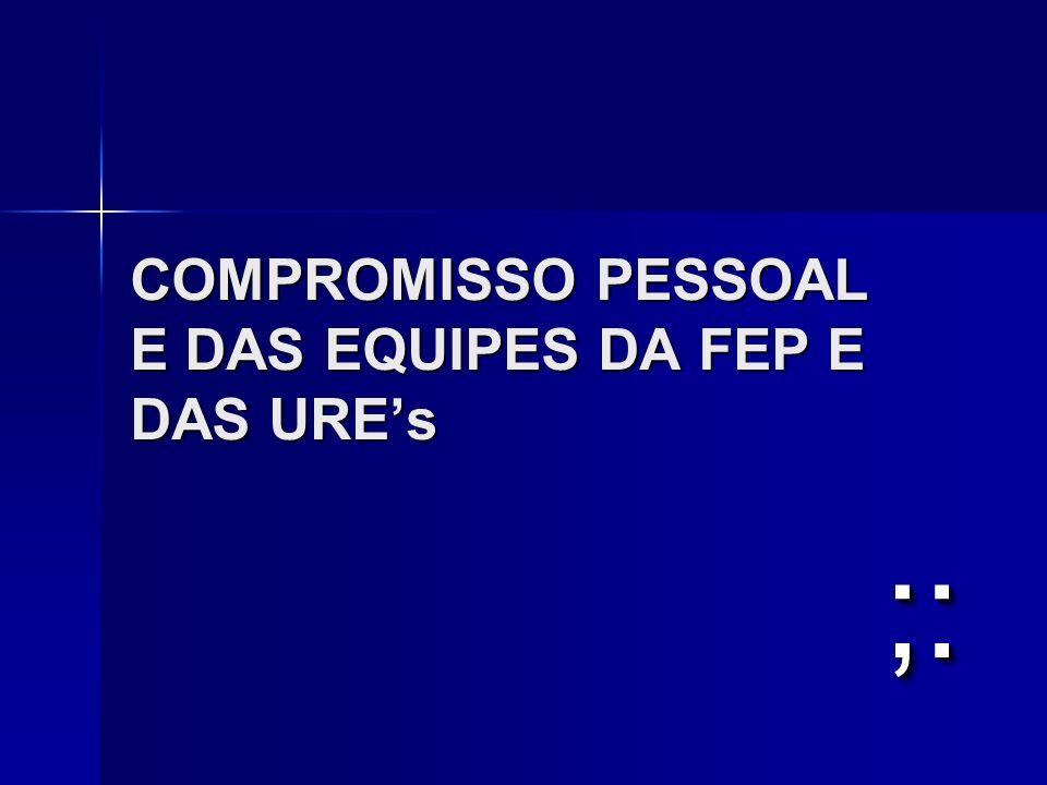 COMPROMISSO PESSOAL E DAS EQUIPES DA FEP E DAS URE's