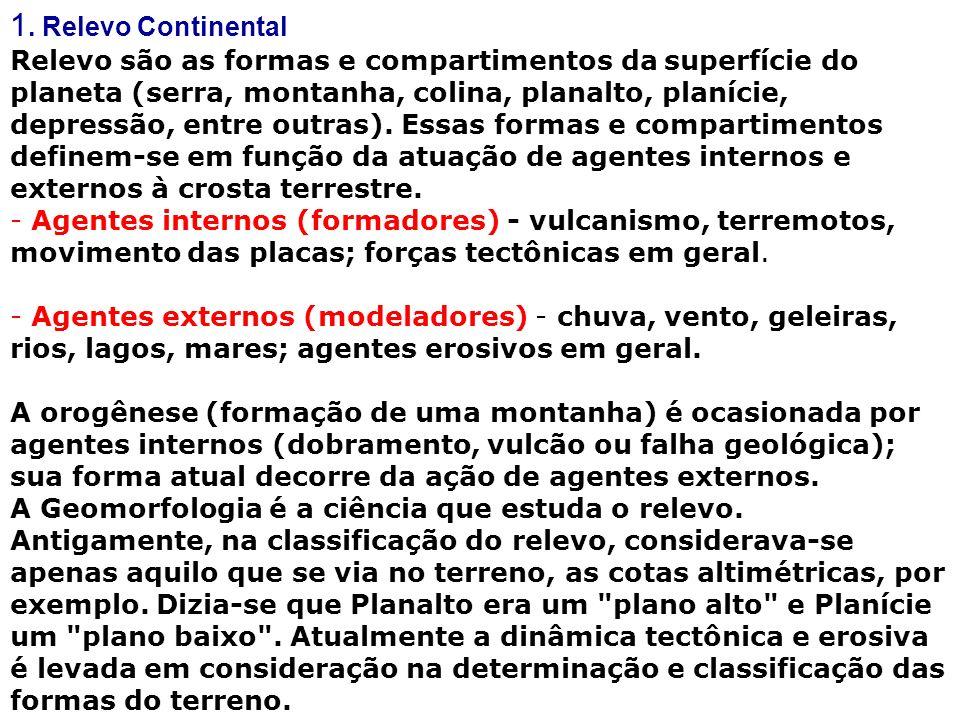 1. Relevo Continental