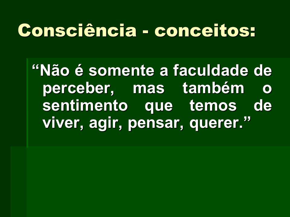Consciência - conceitos: