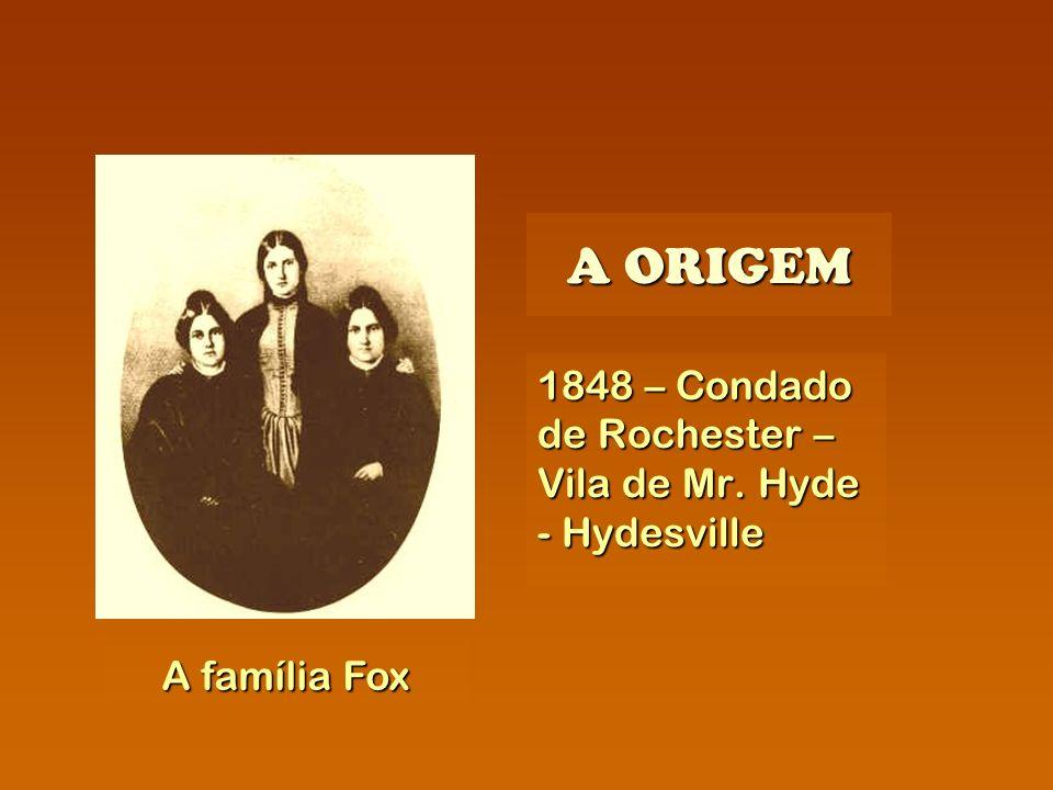 A ORIGEM 1848 – Condado de Rochester – Vila de Mr. Hyde - Hydesville