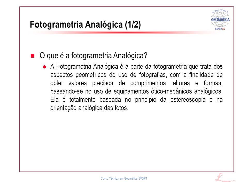Fotogrametria Analógica (1/2)